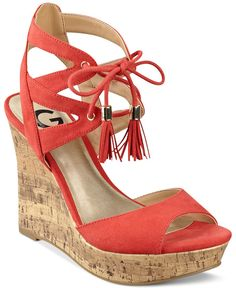 G by Guess Estes Platform Wedge Sandals