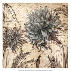 Blue Botanical I - Mini Fine-Art Print by Aimee Wilson at CoffeeDecor.com