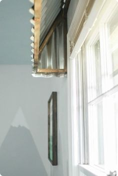 How to make your own rustic farmhouse window awnings. These beautiful farmhouse window treatments look great in any room and are very inexpensive to make. Farmhouse Window Treatments, Wooden Window Valance, Farmhouse Windows, Furniture Design Modern, Kids Window Treatments, Window Valance, Windows, Window Awnings, Metal Awnings For Windows