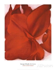 Red Cannas Prints by Georgia O'Keeffe at AllPosters.com