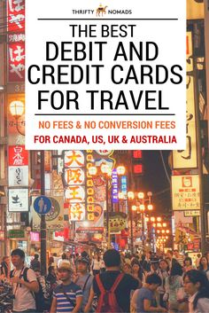 Avoid foreign transaction fees, ATM withdrawal fees & more! A great comparison of the best debit & credit cards for travel! Updated 2016 for travellers from the US, Canada, UK & Australia.