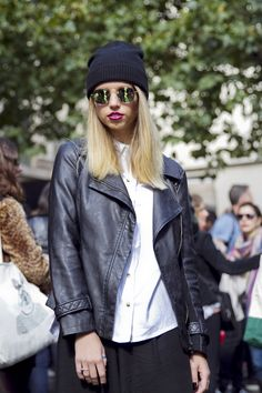 LFW Street style: a chic monochrome casual look