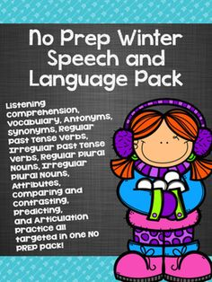 Target 11 different skills with this no-prep speech and language winter pack!!