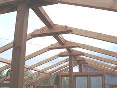 Construire la structure du toit d'une serre en bois. Instructions…