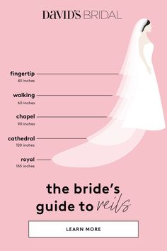 Learn about the ultimate bridal accessory at David's Bridal. Our Wedding Veil Gu… Learn about the ultimate bridal accessory at David's Bridal. Our Wedding Veil Guide covers the full range of wedding veil lengths. Wedding Veil, Wedding Attire, Our Wedding, Wedding Hijab, Wedding Goals, Wedding Tips, Wedding Planning Hacks, Wedding Preparation Checklist, Wedding Planner