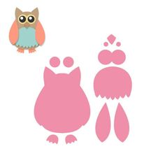 Marianne Design Collectables Cutting Dies - Owl COL1302