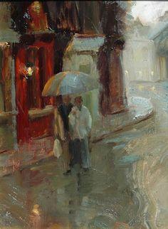 Rainy Day, Harbor by Johanna Harmon