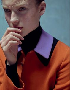 Julia Bergshoeff by Karim Sadli for Vogue UK January 2015 1