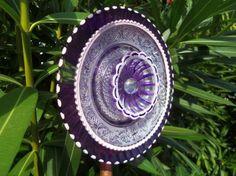 Sun Catcher Garden Art Glass Plate
