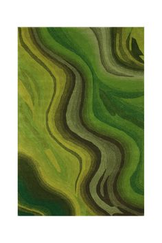 Wonda Wool Rug in Greens | nuLOOM