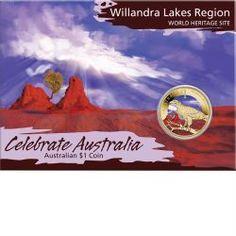 Celebrate Australia - World Heritage Sites - Willandra Lakes Region 2012 $1 Coin