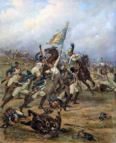 """Feat of Cavalry Guard at the Battle of Austerlitz"", Viktor Mazurovsky"