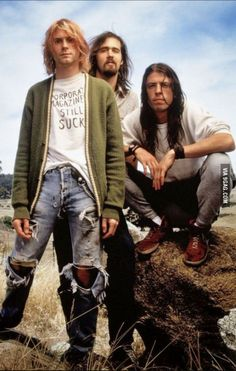 Kurt Cobain wearing ripped jeans before it was cool