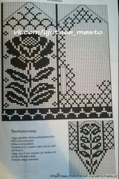 Блог о рукоделии, кулинарии, домоводстве, об интересном в сети, Knitted Mittens Pattern, Fair Isle Knitting Patterns, Knit Mittens, Knitting Charts, Knitted Gloves, Knitting Socks, Knitting Designs, Diy Crafts Knitting, Chart Design
