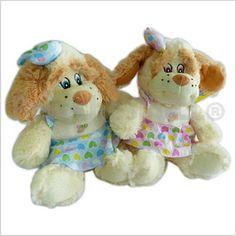 Código: TSP6067 Peluche perritos con vestido y detalles con bordados.