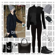 """Airport-Fashion (Yoongi Style)"" by parkjiminie ❤ liked on Polyvore featuring 7 For All Mankind, Pure Collection, Topshop, Converse, Givenchy, Jennifer Meyer Jewelry, Skagen and Chanel"