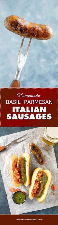 Homemade Ground Basil-Parmesan Italian Sausage - Recipe Make your own sweet Italian sausage at home with pork shoulder, Parmesan cheese, fresh basil and more, with a meat grinder. Here is the recipe.