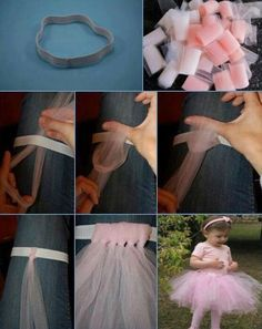 Easy how to make a tutu!!! Adorable can be colorful or solid color!