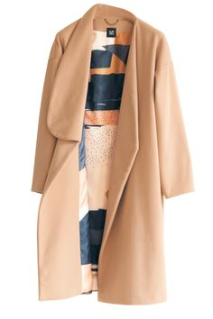 Oversized coat with dropped shoulder, and long sleeve. The single lapel brings unique detail, while the delicious peach hue ensures transeasonal appeal Details: Naked Peach; Oversized Coat, Hue, Aurora, Duster Coat, Cashmere, Bring It On, Wool, Long Sleeve, How To Make