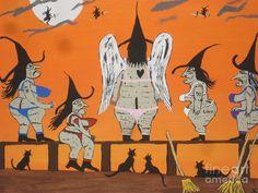 Victorias Secret Witches Painting  - Victorias Secret Witches Fine Art Print