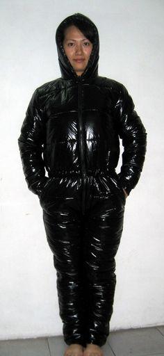 New unisex shiny nylon wet look ski overalls ski suit sport jumsuit custom made S - 5XL