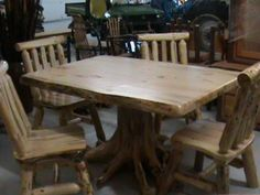 Custom Made Real Oak Tree Trunk Kitchen Dining Table  One Of Our Prepossessing Tree Trunk Dining Room Table Decorating Design
