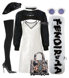 """""""#StyledByLeek"""" by stylebywho on Polyvore featuring Balenciaga, Chanel, DKNY, Noir Kei Ninomiya, Fendi and Christian Dior"""