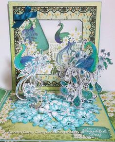 Peacock Garden by sandra35 - Cards and Paper Crafts at Splitcoaststampers