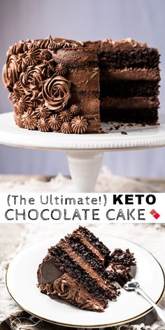 Paleo & Keto Chocolate Cake (With Buttercream Frosting!) The post Paleo & Keto Chocolate Cake (With Buttercream Frosting!) appeared first on Dessert Platinum. Desserts Keto, Desserts Sains, Keto Friendly Desserts, Keto Snacks, Dairy Free Snacks, Keto Cake, Keto Cupcakes, Keto Cheesecake, Turtle Cheesecake