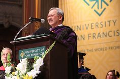 San Francisco Mayor Ed Lee delivers a speech at the USF 2012 Spring Commencement University Of San Francisco, Student Life, Saints, Watch, Spring, Photography, Style, Swag, Clock