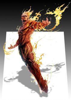 Flame On   by Doniel Jean-Pierre    #comics #superhero