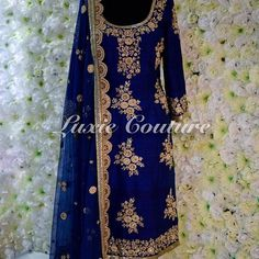 Beautiful blue raw silk sharara suit embellished with hand work on front and back   Shirt : Raw silk  Dupatta: Net with hand work and lace Sharara : Banarsi  This piece come can be done in any color and can be custom made with pajami, salwar, sharara or lengha  For any inquiries email at luxiecouture@hotmail.com   #luxiecouture #indianfashion #indianstreetfashion #lenghacholi #lehenga #punjabibride #indianwedding #ladiessangeet #indianbride #anarkali #dupatta #lengha #wedmegood #indiancou...