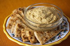 Ottoman Table Hummus Recipe (similar to traditional hummus; however, this also has cinnamon, currants, nutmeg, and pine nuts.