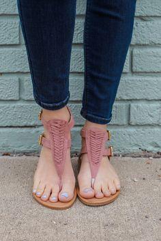 Faux Suede Woven Sandals Archer-245 – UOIOnline.com: Women's Clothing Boutique