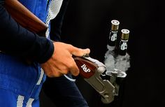 Italy's Ennio Falco removes cartridges as he competes in men's skeet shooting in the London Olympics at the Royal Artillery Barracks on Tuesday, July Olympic Shooting, Shooting Sports, Skeet Shooting, Trap Shooting, Sports Pictures, Cool Pictures, Cool Photos, Funny Pictures, Senior Pictures