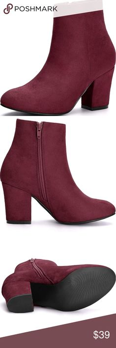 60 Best Burgundy ankle boots images | Autumn fashion