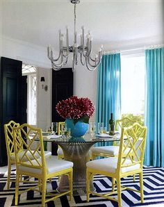 Who said 'formal' dining room meant boring?! Not Jonathan Adler - loves it!