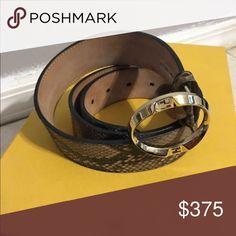 Belt Python skin fendi belt includes dust bag Fendi Accessories Belts