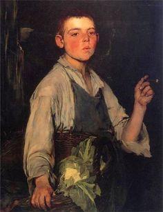 Duveneck, Frank (b,1848)- Cobbler's Apprentice