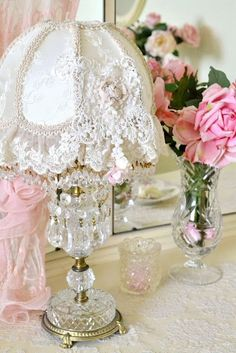 lace vintage lampshade