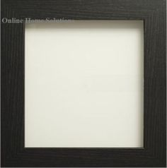 black wooden square photo picture frames wall hang or stand ebay
