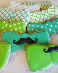Cookies, galletas moño bigote