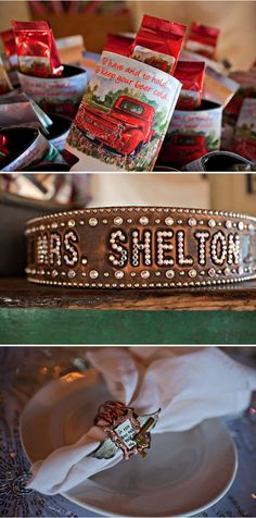 """We are proud to share details from the """"Glam Deer Camp"""" themed wedding reception of Miranda Lambert & Blake Shelton as presented to Strictly Weddings by @junkgypsies"""