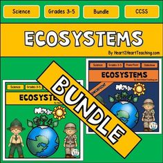 Ecosystems BUNDLED Complete Unit - Your students will love learning all about Ecosystems with this Complete Resource!This Complete Unit on Ecosystems includes:*88 page Activity Pack with Printables*98 Slide PowerPoint Presentation****SAVE by buying the Complete Bundle!An ecosystem can be huge like the Amazon Rainforest or as small as puddle in your backyard.