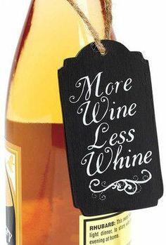 'More Wine' Chalkboard Wine Tag