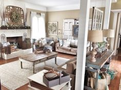 Farmhouse and rustic decor living room