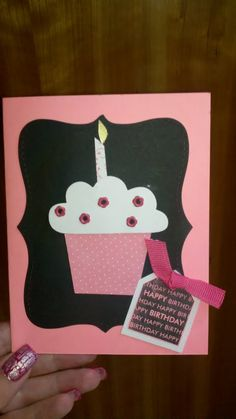 Cupcake birthday card using Stampin Up products