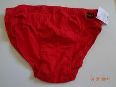 Body Glove Men's L Red Brief NWT 100%Cotton Made In India Machine Wash Cold Wow #BodyGlove #Brief