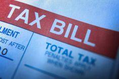 Closeup of a tax bill