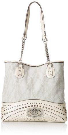 KATHY Van Zeeland Perf-Fect Shoulder Bag,Pearl White